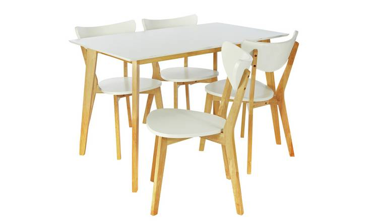 b43b933088cd2 Buy Argos Home Harlow Dining Table and 4 Chairs - White