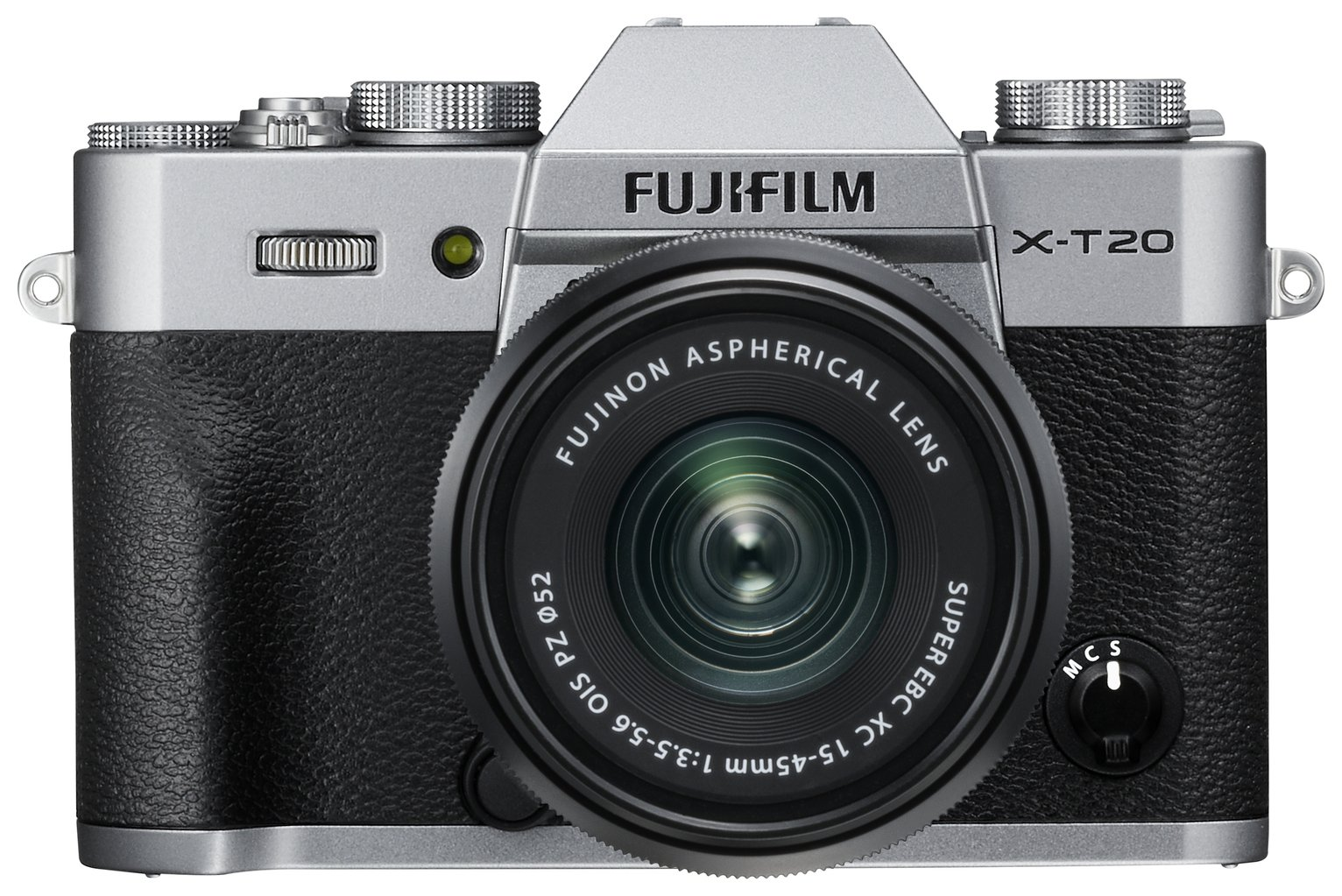 Fujifilm X-T20 24.3MP 15-45mm Compact System Camera - Silver