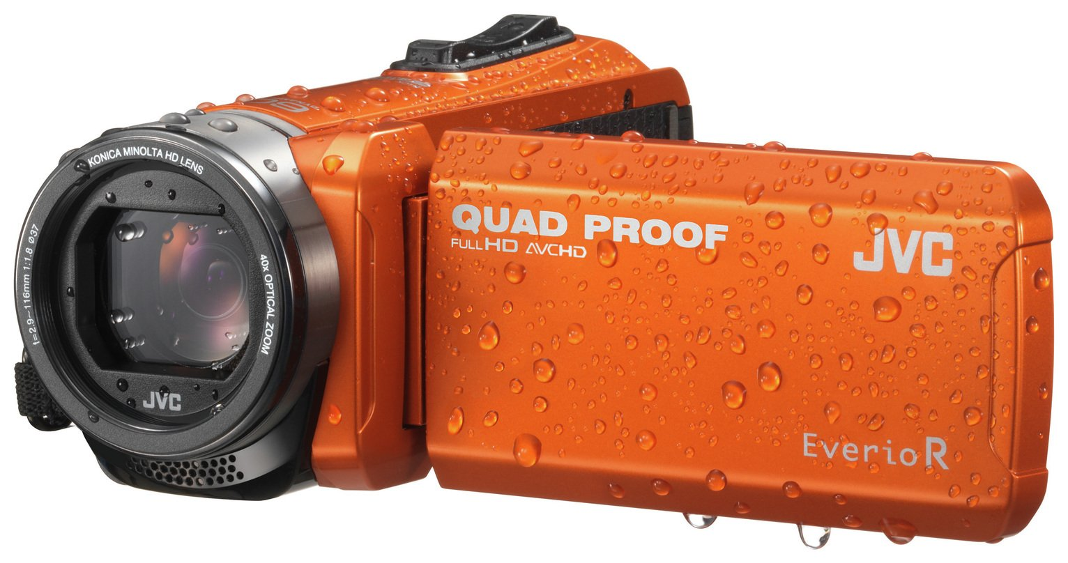 JVC GZ-R405D Full HD Quad Proof Camcorder – Orange