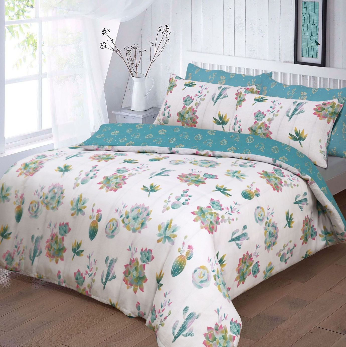 Argos Home Summer Cactus Bedding Set - Kingsize
