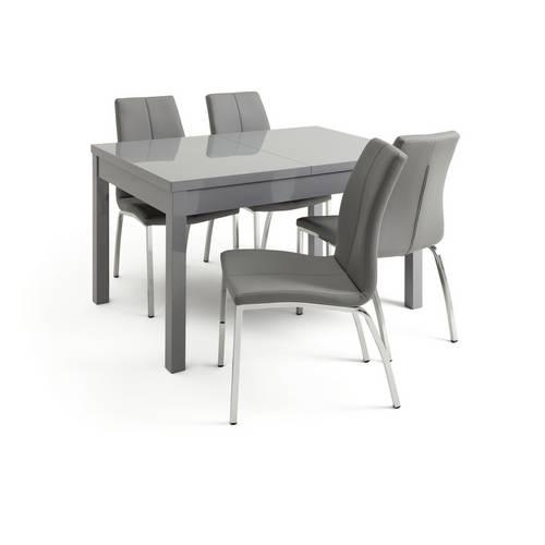 Argos High Gloss Table And Chairs: Buy Argos Home Lyssa Gloss Extending Table & 4 Grey Milo