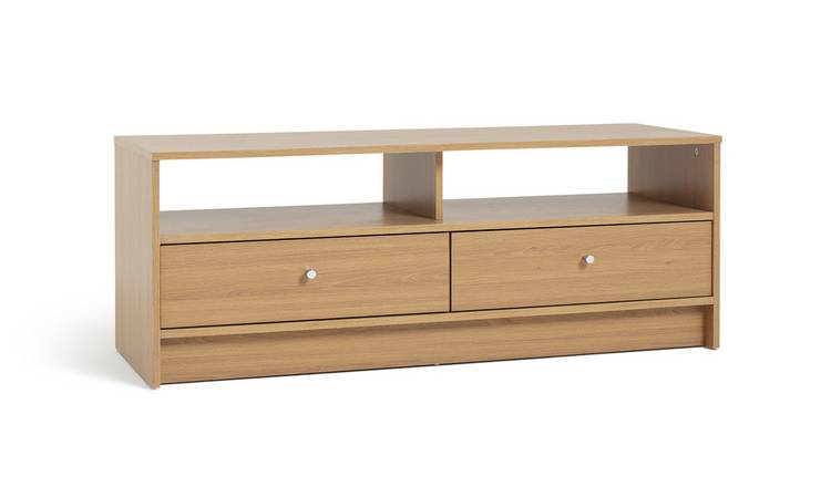 Habitat Malibu 2 Drawer Wood Effect TV Unit - Oak Effect