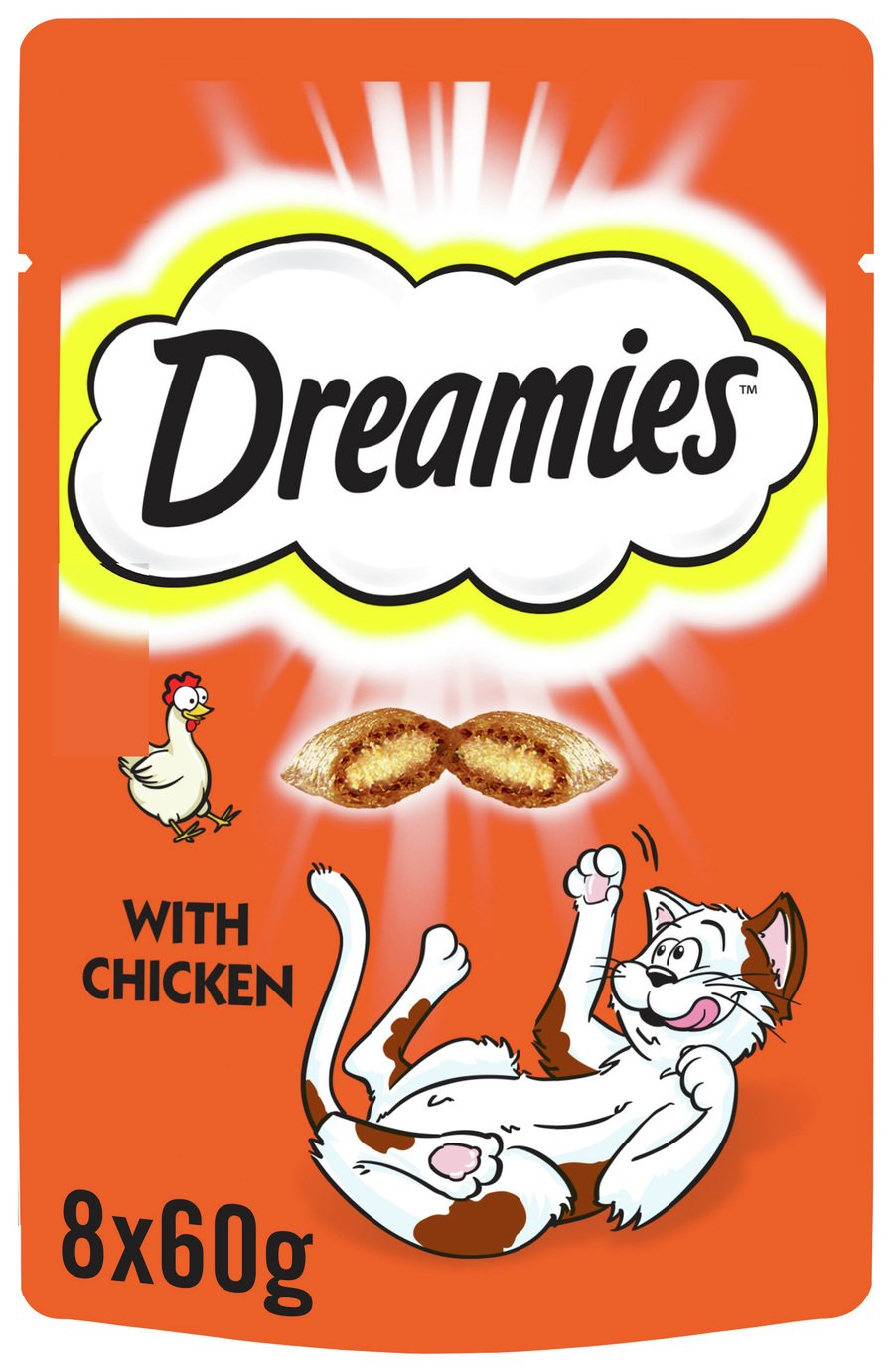 Image of Dreamies Cat Treats with Chicken - 8 x 60g