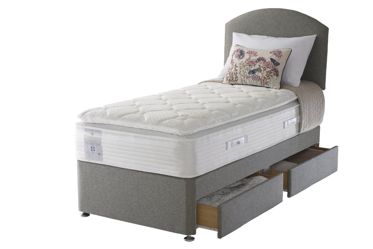 Sealy Activ 2200 Geltex Pillowtop 2 Drawer Single Divan