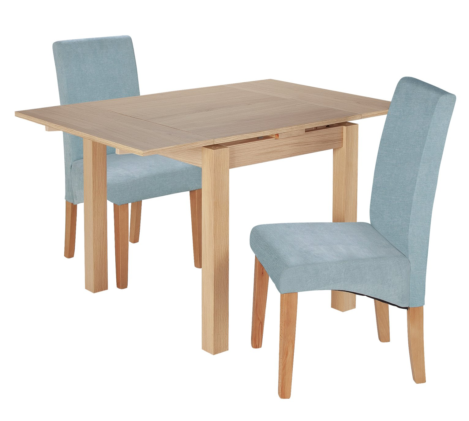 Argos Home Clifton Extendable Table & 2 Chairs - Duck Egg