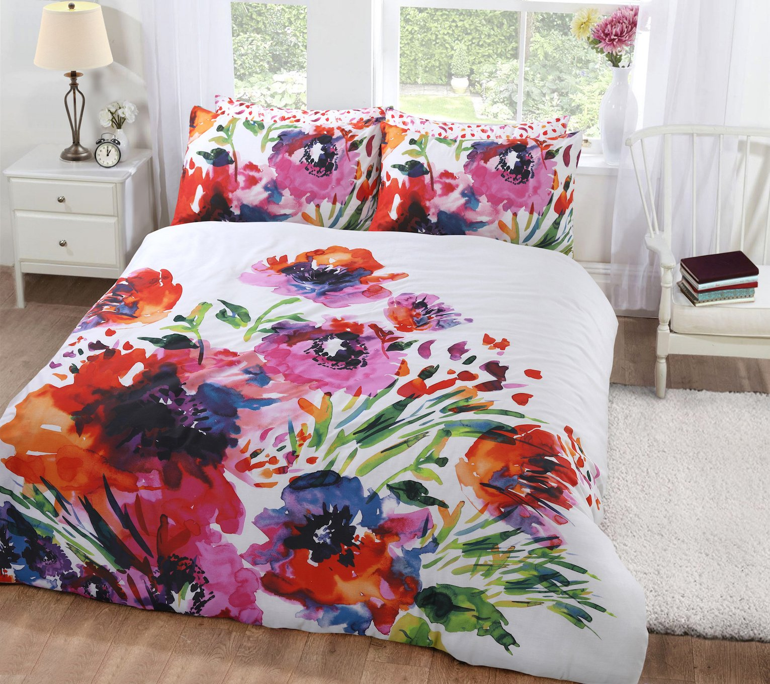 Argos Home Abstract Floral Bedding Set - Kingsize