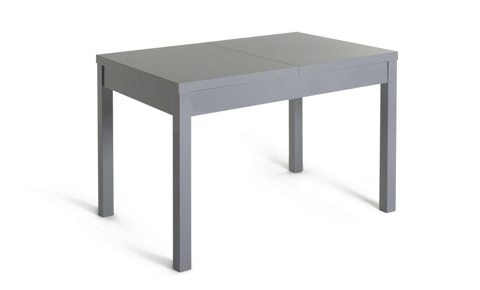 Habitat Lyssa Extending 4-6 Seater Dining Table - Grey