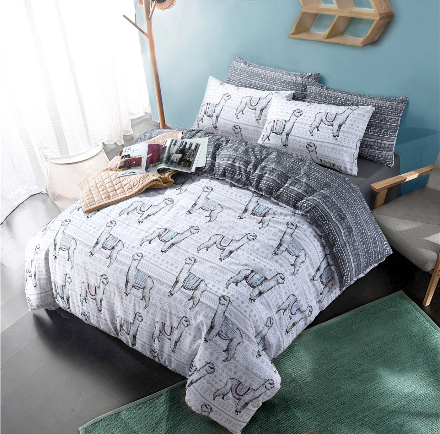 Argos Home Llama Bedding Set - Kingsize