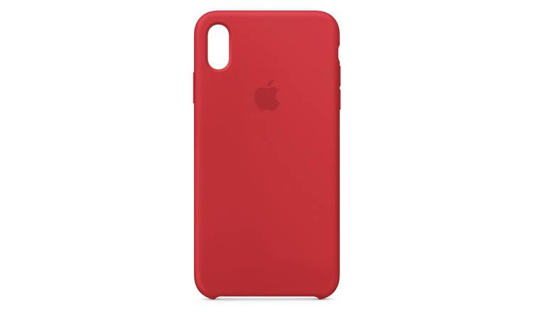 Apple iPhone Xs Max Silicone Phone Case - Red