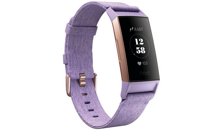 Buy Fitbit Charge 3 Special Edition Smart Watch - Lavender | Fitness