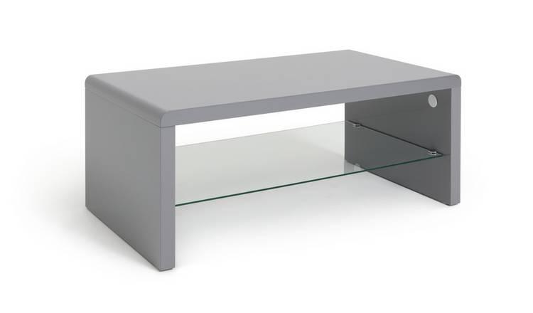 Buy Argos Home Sleigh Coffee Table Gloss Grey Coffee Tables Argos