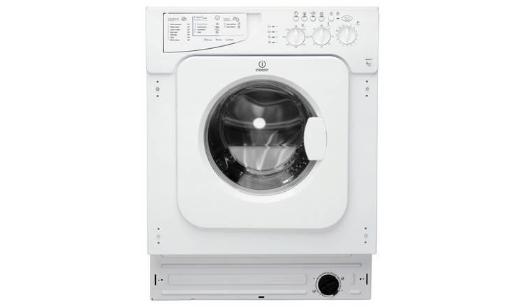 Buy Indesit IWME127 7KG 1200 Spin Washing Machine - White   Washing  machines   Argos
