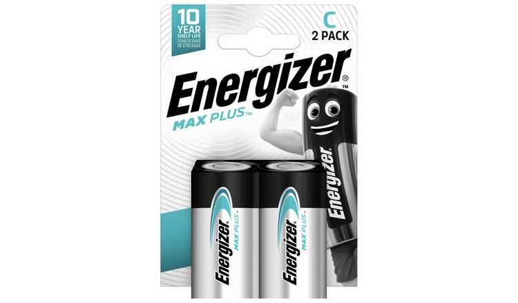 Energizer Max Plus C Alkaline Batteries - Pack of 2