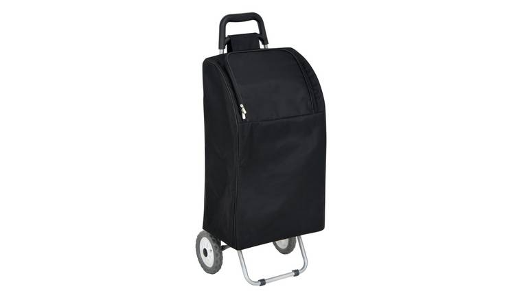2 Wheel Folding Black Insulated Shopping Trolley