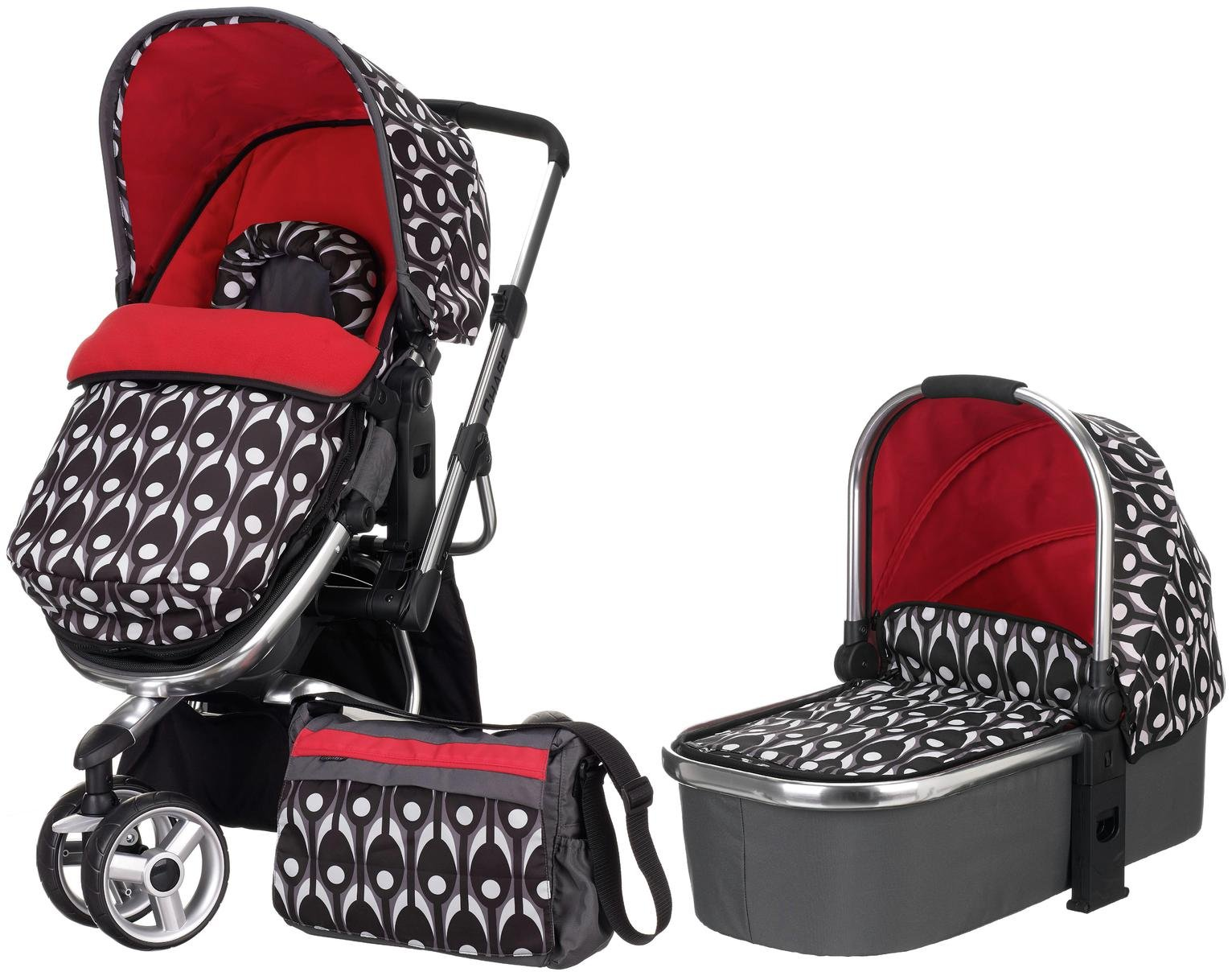 Image of Obaby Chase 2 in 1 Stroller and Carrycot - Eclipse