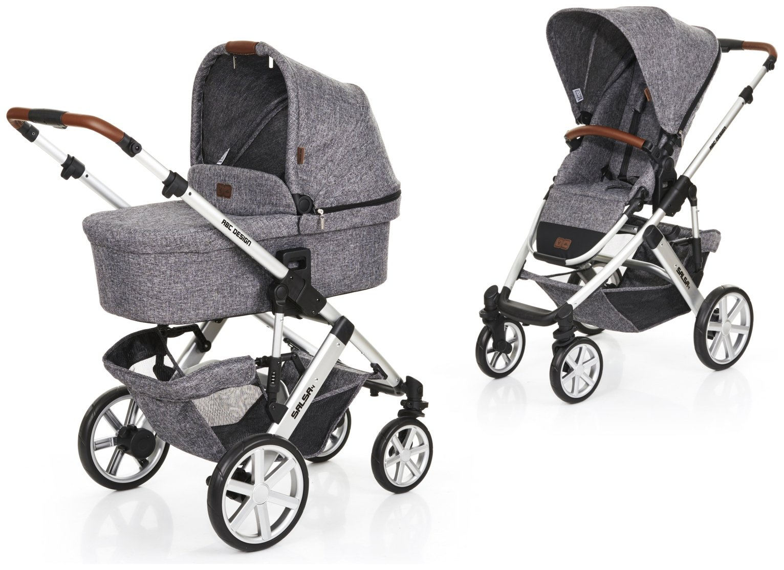 Image of ABC Design Salsa 4 Pushchair and Carrycot - Race Grey