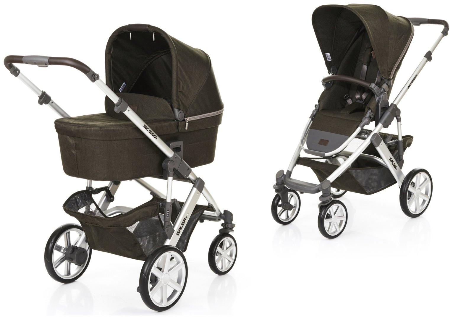 Image of ABC Design Salsa 4 Pushchair and Carrycot - Leaf