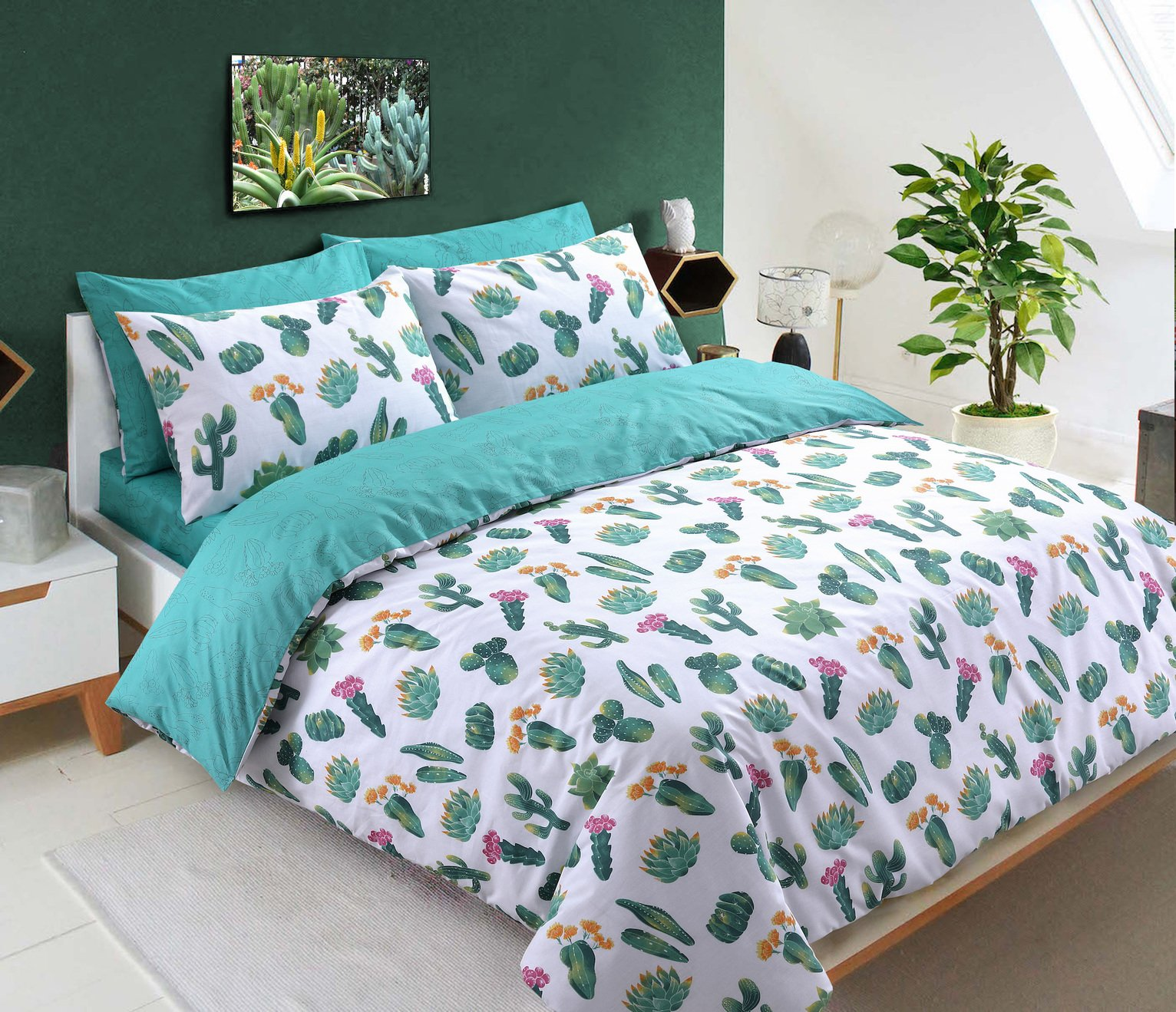 Argos Home Tropical Cactus Bedding Set – Kingsize
