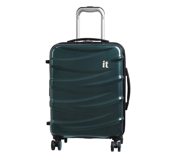 Buy IT Luggage Cabin 8 Wheel Expandable Suitcase - Turquoise ... afcae55df12f