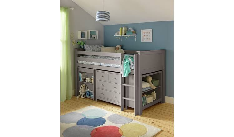 Buy Argos Home Brooklyn Ultimate Mid Sleeper - Grey | Kids ...