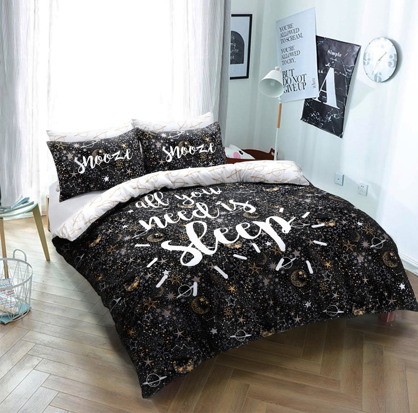 Argos Home Sleep Slogan Bedding Set - Kingsize