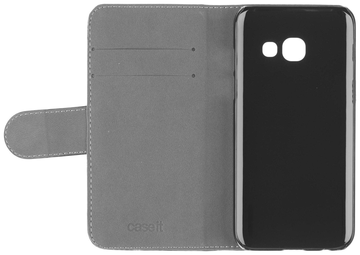 Case It Samsung Galaxy A3 Leather Folio Phone Case - Black
