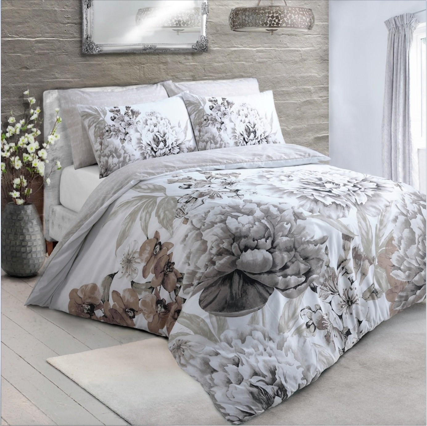 Argos Home Natural Floral Bloom Bedding Set - Kingsize