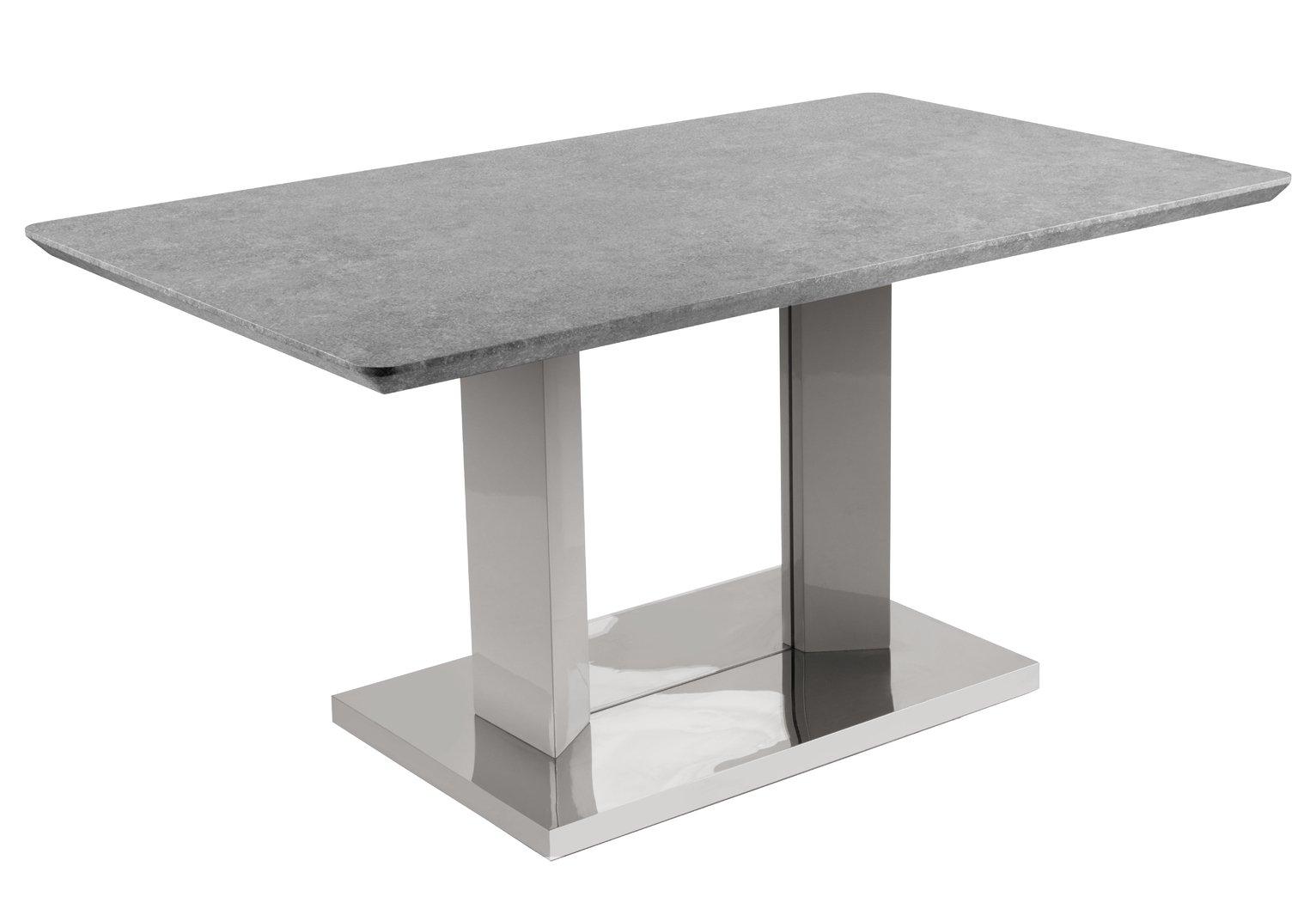 Argos Home Dalston Granite Effect Pedestal Dining Table
