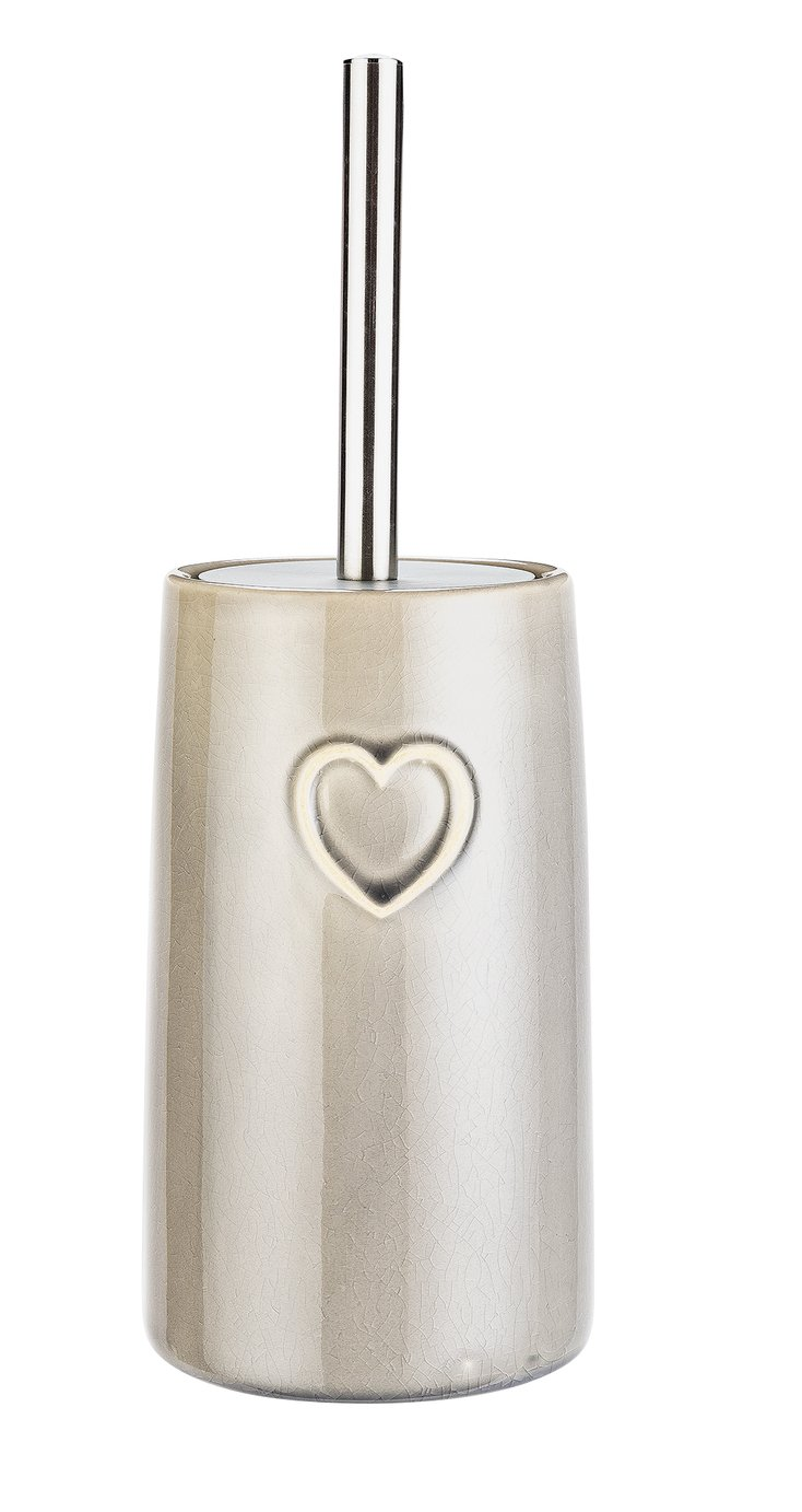 Argos Home Hearts Toilet Brush - Grey
