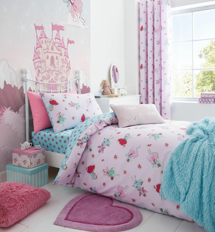Catherine Lansfield Fairies Pink Bedding Set - Single