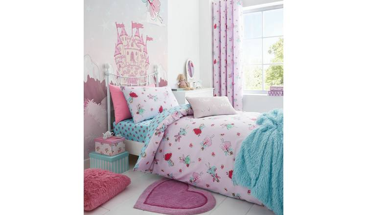 Catherine Lansfield Fairies Pink Bedding Set – Single