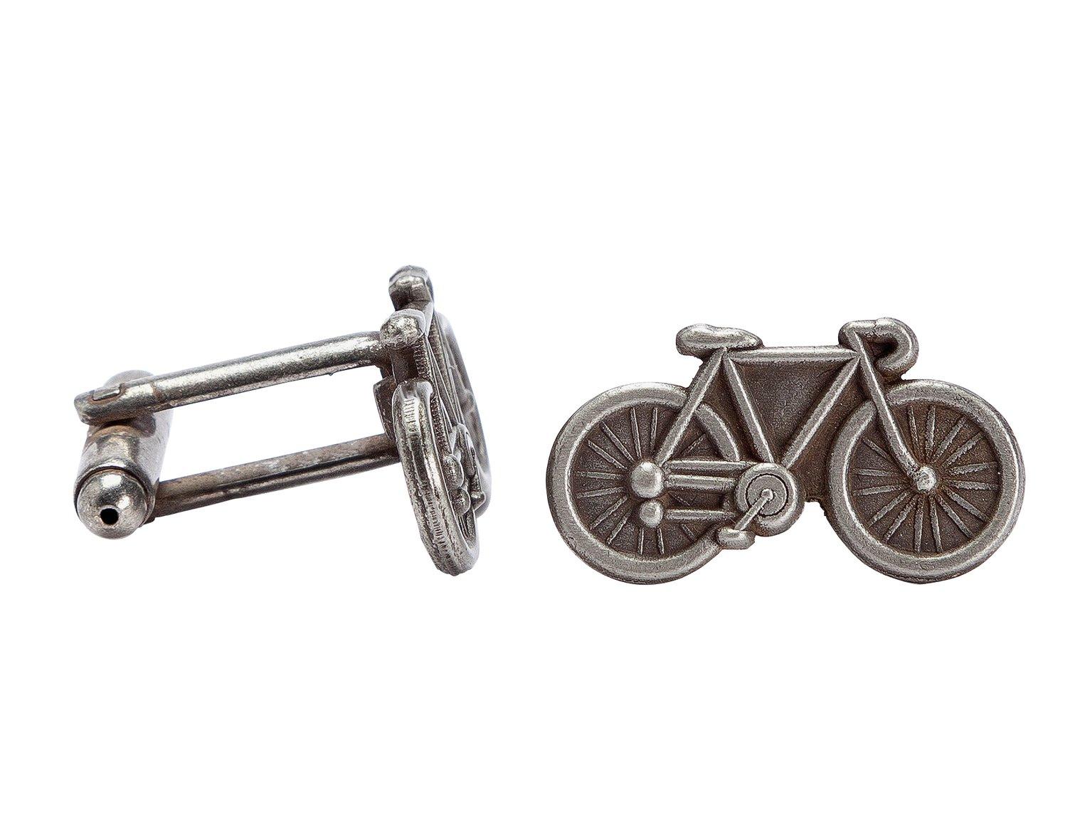 Tour de France Silver Colour Bicycle Cufflinks