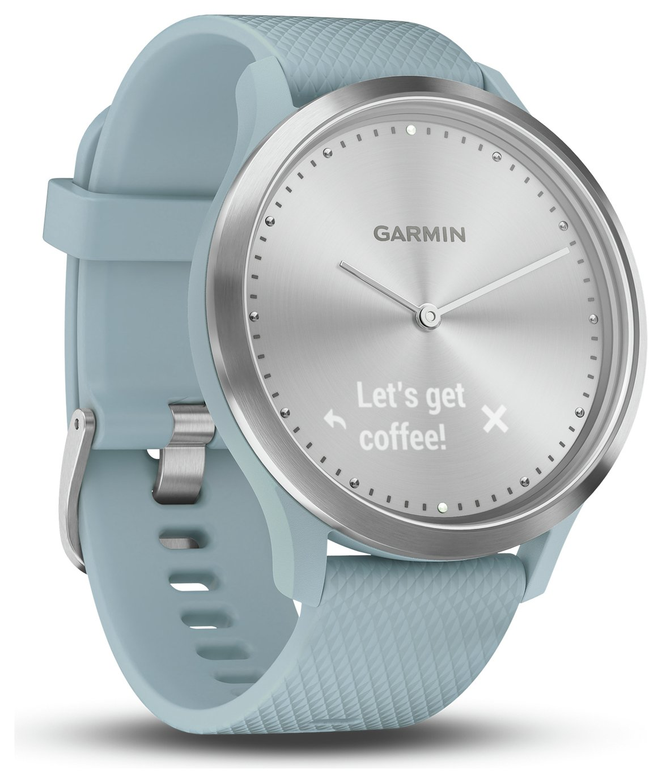 Garmin Vivomove HR Smart Watch - Silver and Seafoam Blue
