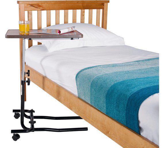 Buy Adjustable Overbed Table With Tilt Facility At Argos