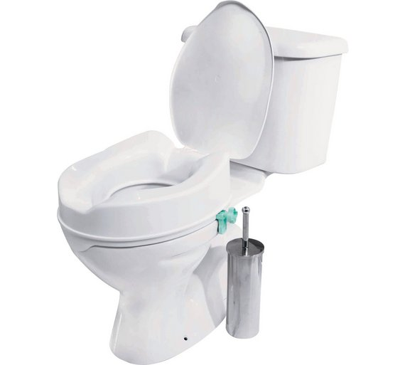 buy raised toilet seat with lid at your. Black Bedroom Furniture Sets. Home Design Ideas