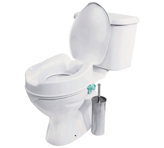 Click to zoom. Buy Raised Toilet Seat with Lid at Argos co uk   Your Online Shop