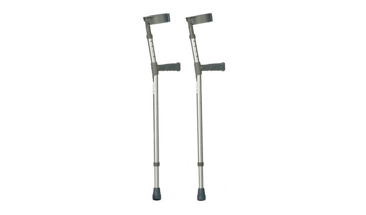 Adjustable Pair of Forearm Crutches