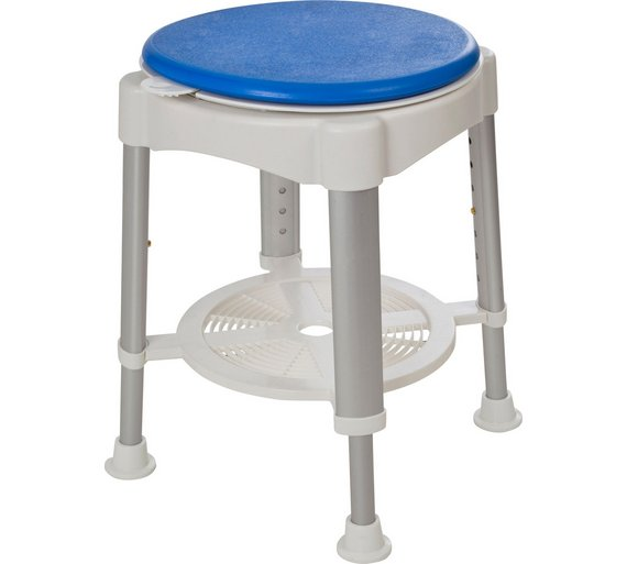 buy round shower stool rotating seat at. Black Bedroom Furniture Sets. Home Design Ideas