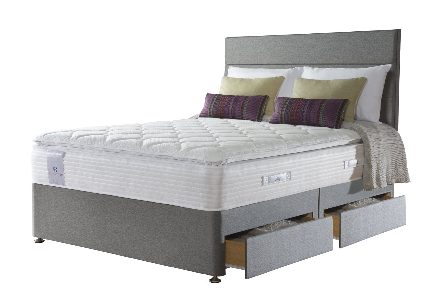 Sealy Activ 2200 Geltex Pillowtop 4 Drawer Kingsize Divan