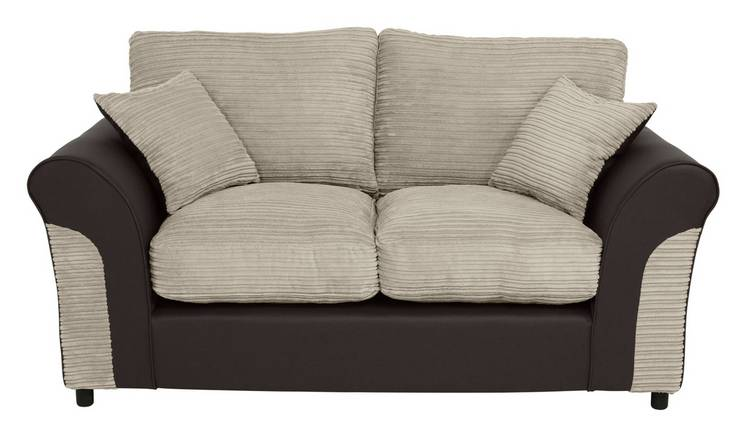 Buy Argos Home Harry 2 Seater Fabric Sofa Natural | Sofas | Argos
