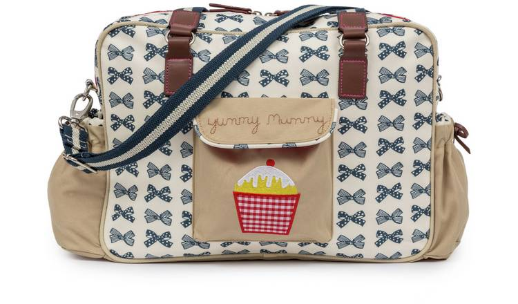ed9d9501f7 Buy Pink Lining Yummy Mummy Bag - Navy Bows | Changing bags ...