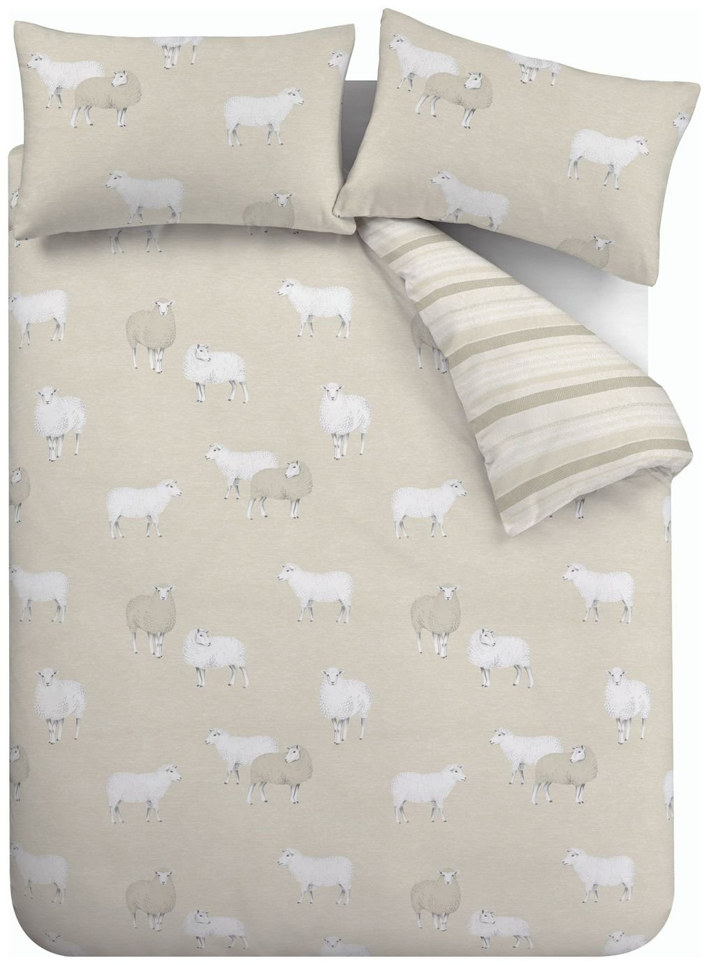 Catherine Lansfield Sheep Natural Bedding Set – Double