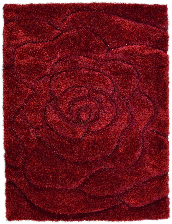 Fresno Rose Rug - 120x170cm - Red