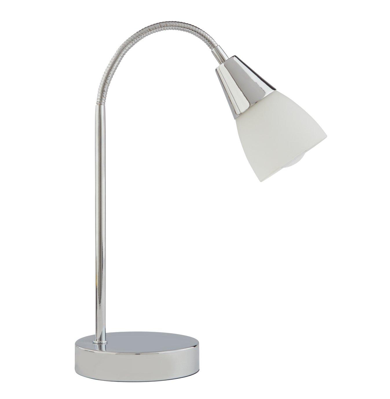 Argos Home Curico Chrome & Glass Table Lamp