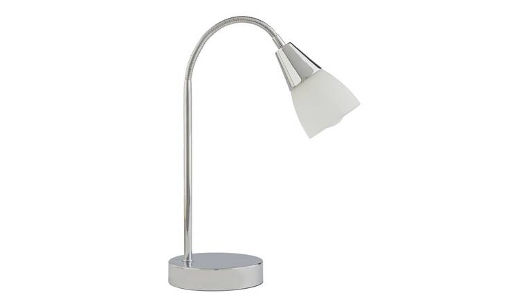 Argos Home Curico Chrome & Glass Table Lamp