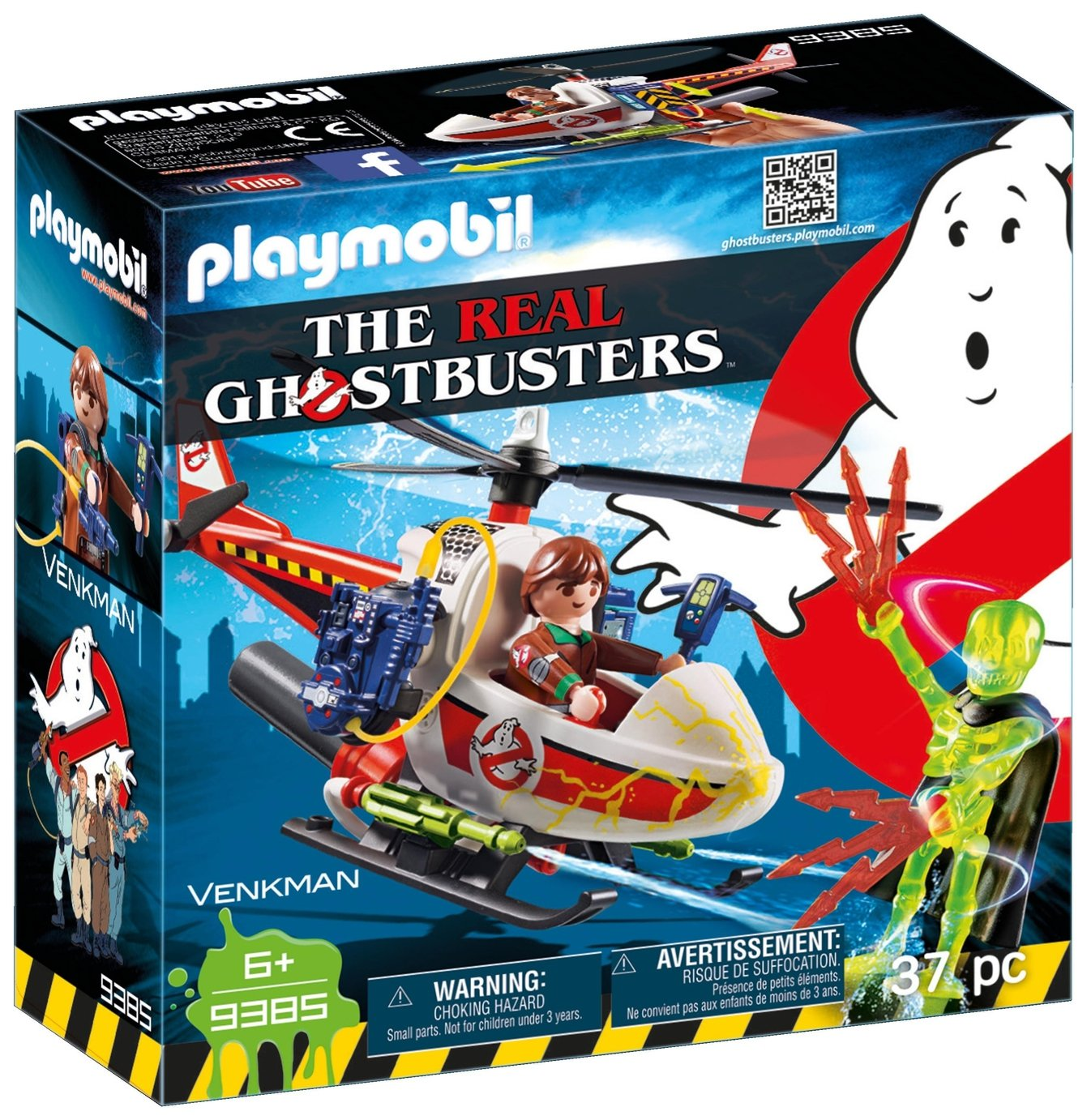 Playmobil 9385 Ghostbusters Venkman With Helicopter