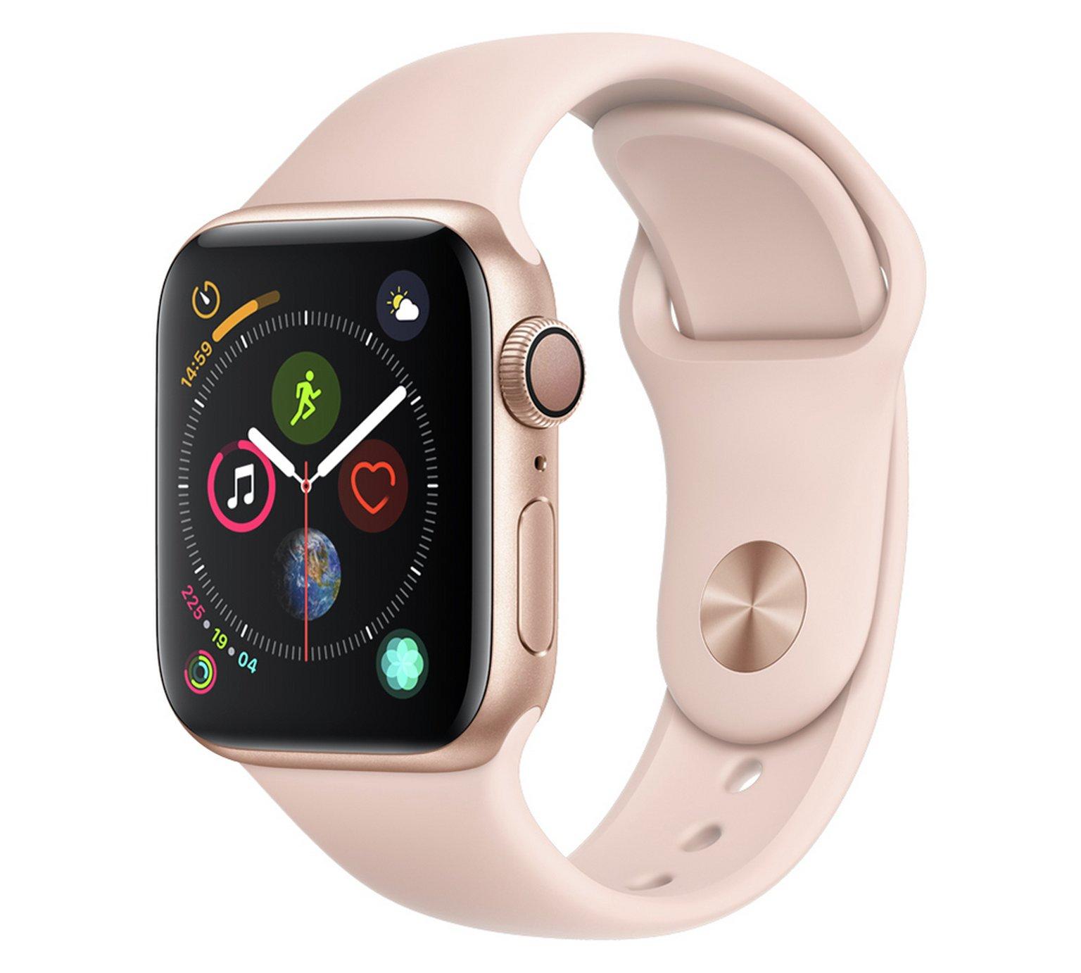 Apple Watch S4 GPS 40mm - Gold Aluminum/Pink Sand Sport Band