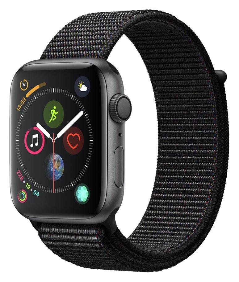 Apple Watch S4 GPS 44mm - Space Grey Aluminum / Black Loop