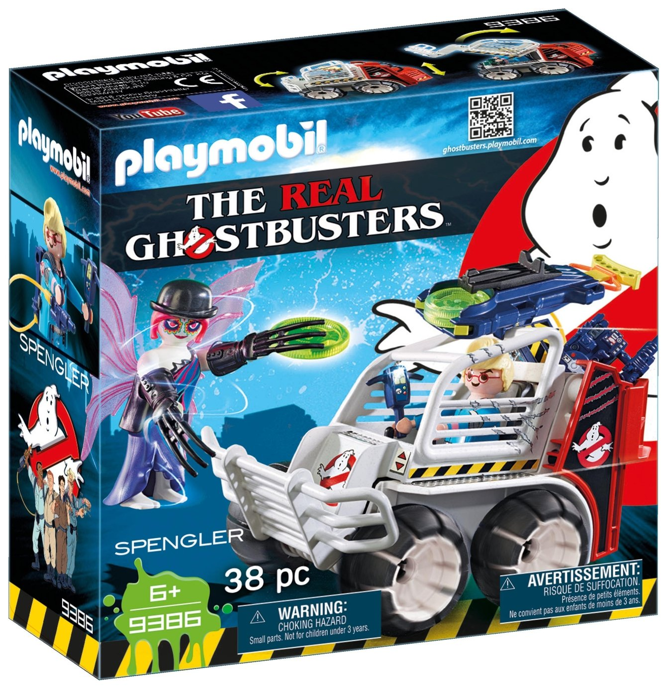 Playmobil 9386 Ghostbusters Spengler With Cage Vehicle