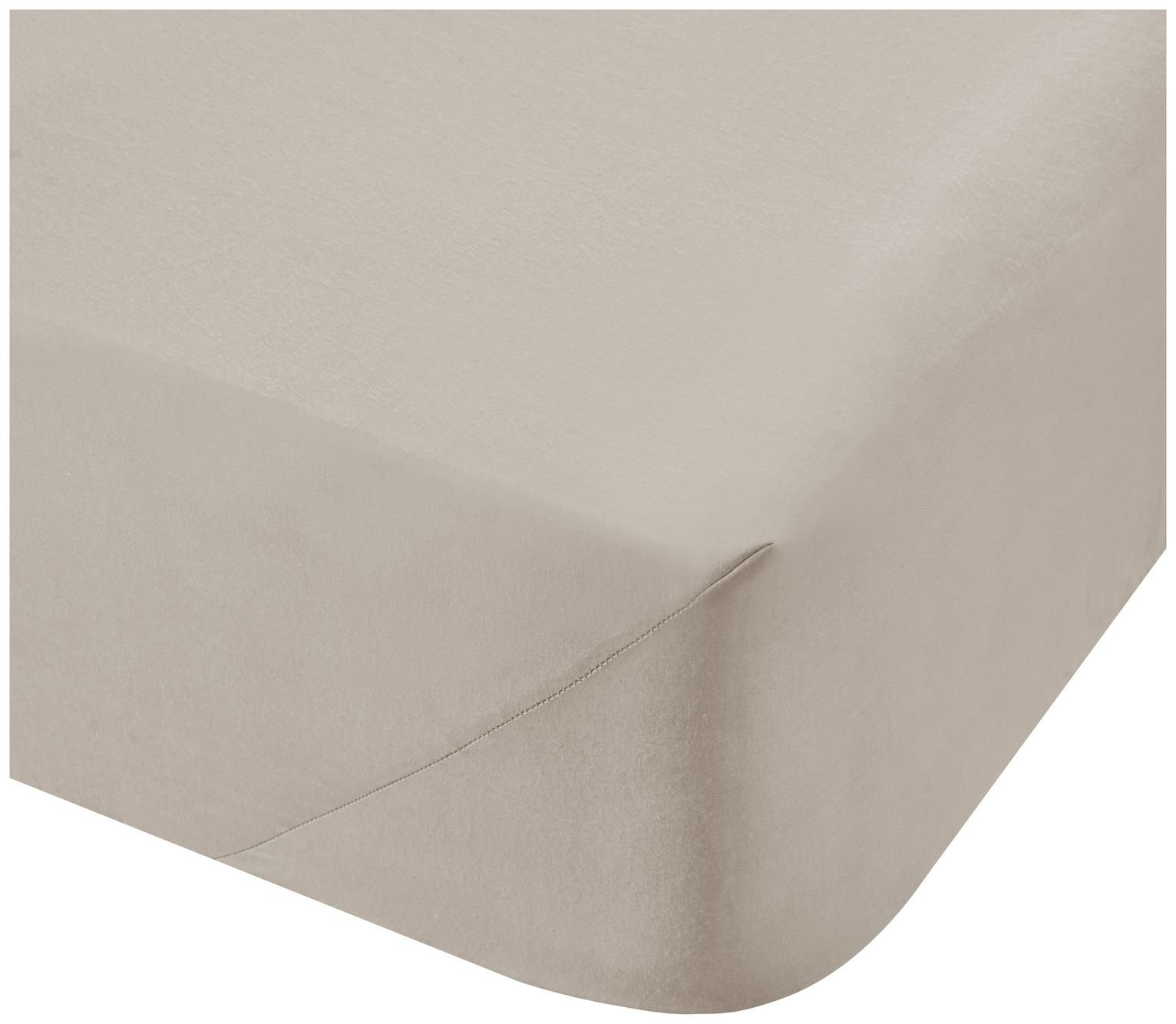 Catherine Lansfield Natural 500 TC Flat Sheet - Double